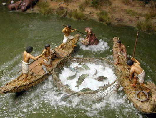 в древние времена рыбалки